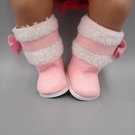 cocok 43 cm Zapf Bayi Lahir Aksesoris Boneka Sepatu boneka Merah Muda - Boneka dan mainan lunak - Foto 2