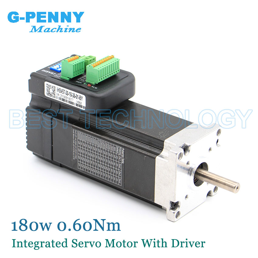 Free Shipping 3000rpm 180w Integrated Servo Motor with Driver 0 60Nm 6 0A Mini Servo Motor