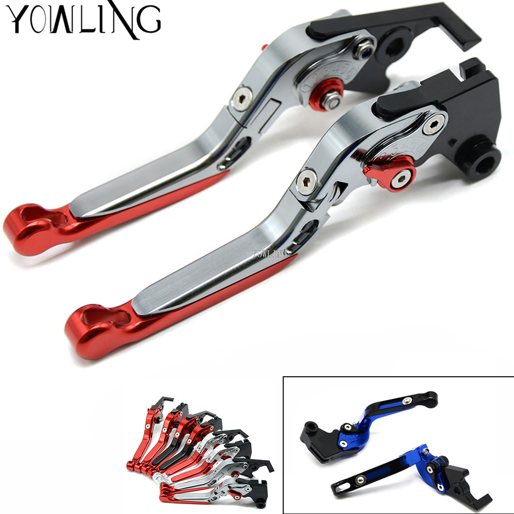 Motorcycle CNC Adjustable Extendable Brake Clutch Levers Brakes Handle For Aprilia Tuono V4 R 2003 2004 2005 2006 2007 2008 2009 cnc motorcycle brakes clutch levers for aprilia tuono rsv mille r falco sl1000 1999 2003 2004 2005 2006 2007 2008 2009 2010