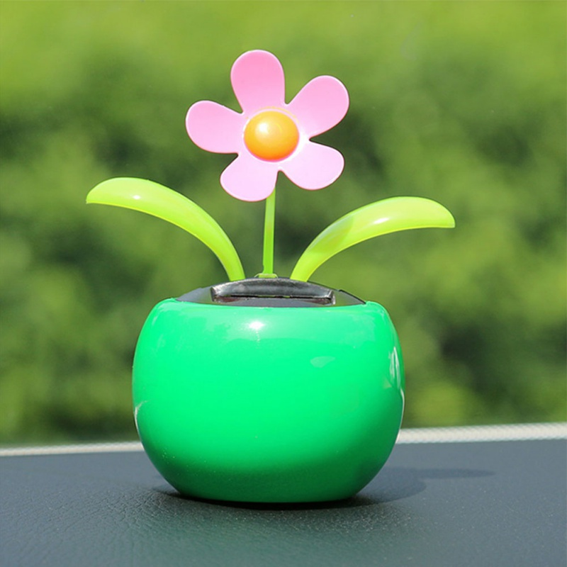 HOT Car Accessories Solar Powered Dancing Flower Swinging Animated Dancer Toy Car Decoration