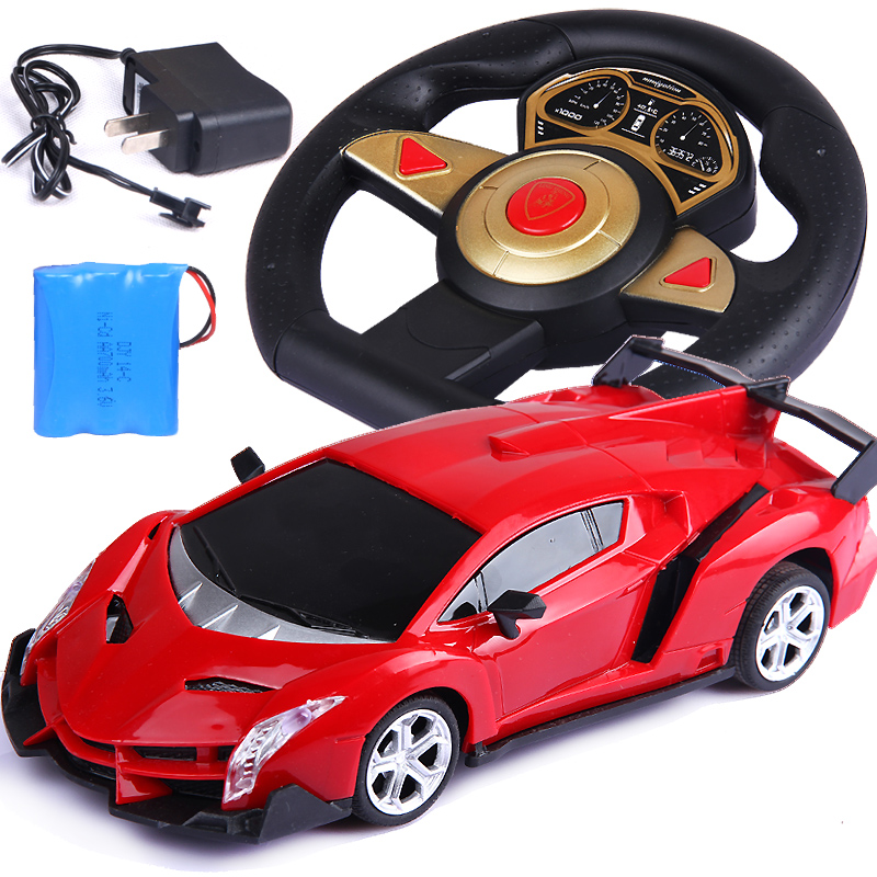 20 cm steering wheel rc car remote control toys for kids charger electric rc car toy model automobile race brand car best gift in rc cars from toys