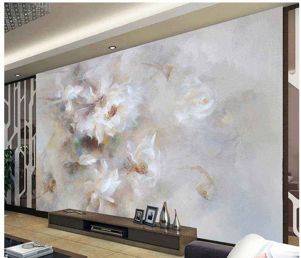 Abstract lotus flower promotion shop for promotional abstract 3d customized wallpaper abstract lotus flower decoration background wall wall mural photo wallpaper home decoration dhlflorist Gallery