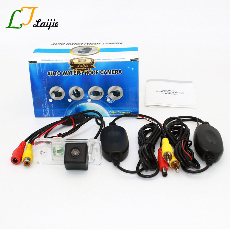 Laijie Backup Cameras For Audi A2 / A3 / S3 / RS 3 RS3 / RCA Or AUX Wireless HD CCD Night Vision Car Rear View Camera / NTSC