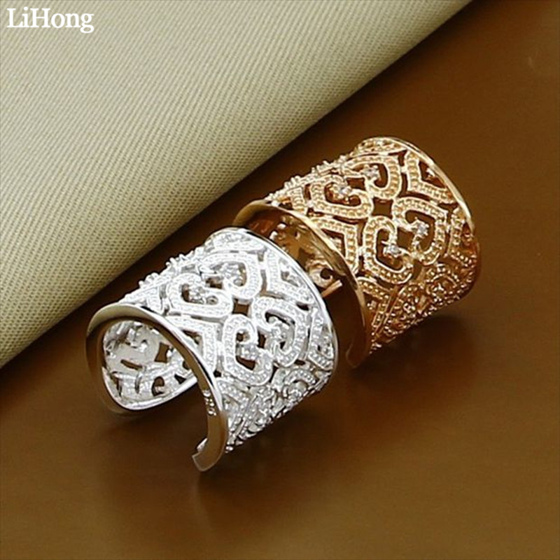 Open-Ring Two-Piece Jewelry Party-Gift Silver-Plated Fashion New Ladies