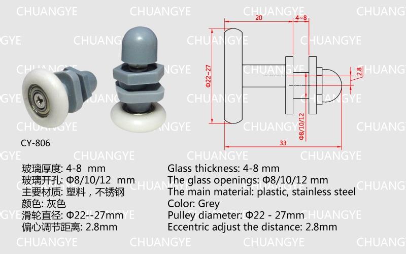 4 X Shower Door Replacement Roller Wheel Runner Diameter 27mm