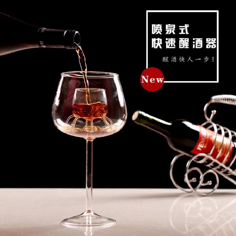 O.RoseLif Handmade glassware with the Decanter Wine Red wine Romantic life Pourer With Liner Bar Hotel Wedding Decoration