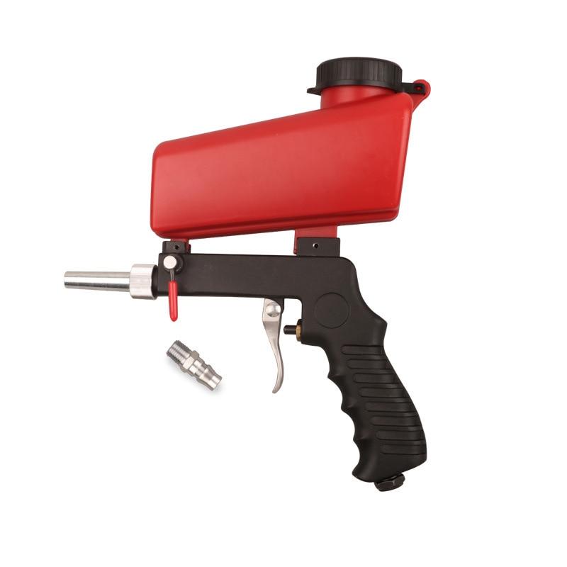 90psi Portable Gravity Sandblasting Gun Pneumatic Small Sand Blasting Machine Adjustable Pneumatic Sandblasting Set-in Spray Guns from Tools on