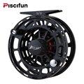 Piscifun Platte negro carrete de pesca con mosca de 3/4, 5/6 de 7/8 WT CNC máquina de corte de carrete de la pesca grande árbol de aluminio vuela carrete