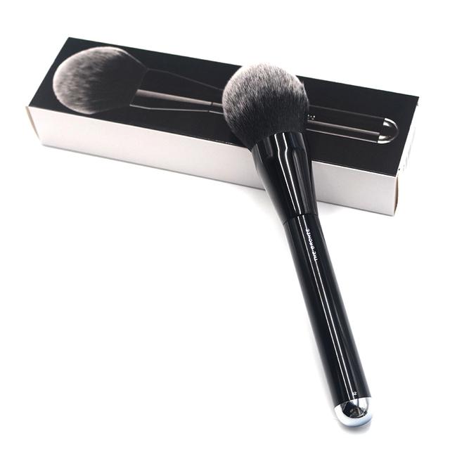 Nuevas Llegadas NO. 12 Súper Polvo Cepillo de Mango Largo Negro Suave Pelo Grueso Esencial Belleza Maquillaje Brocha