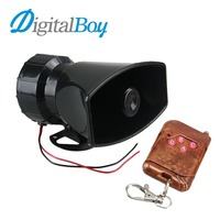 12V 100W Vehicle Car 7 Tone Siren Loud Horns Vehicle Motorcycle Wireless Remote Control Alarm Horn