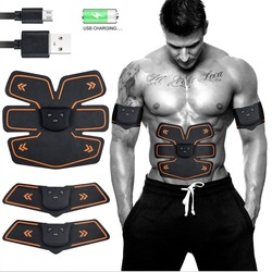 Rechargable Wireless EMS Electric Abdominal  Muscles Trainer ABS Stimulator Body Weight Loss Massager for Women and Men Fitness