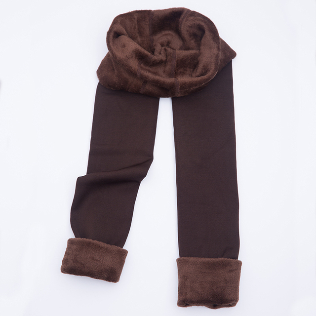 Autumn Winter Fashion Women's Plus Cashmere Tights High Quality Knitted Velvet Tights Elastic Slim Warm Thick Tights