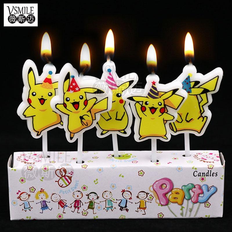 Us 187 29 Off5 Buahset Lucu Bahagia Gadis Kartun Kue Ulang Tahun Anakcupcake Toppers Kreatif Kue Ulang Tahun Lilin Perlengkapan Pesta In