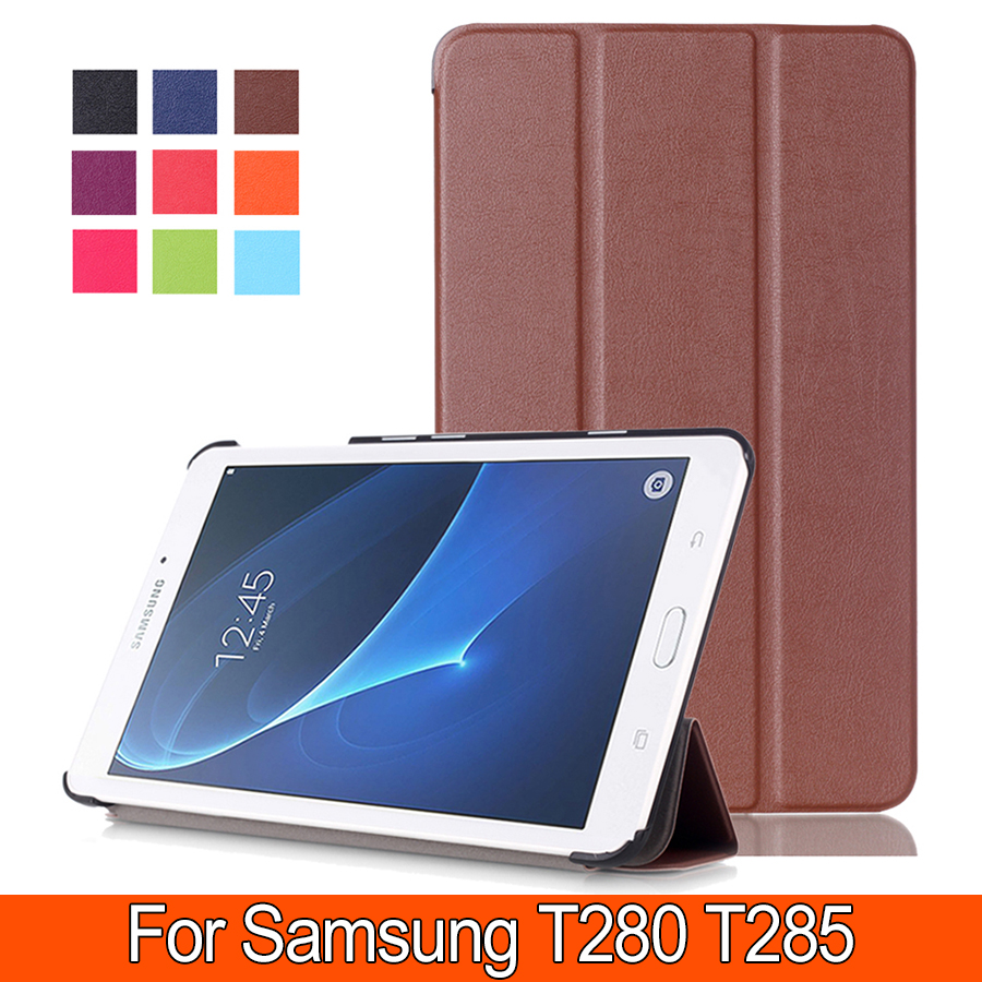 все цены на  For Samsung Galaxy Tab A 7.0 Case Ultra Slim-shell Stand Cover Case for Samsung Galaxy Tab A 7.0 Inch SM-T280/ SM-T285 Tablet  онлайн