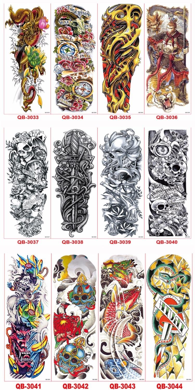 3st Vattentät Tillfällig Tatueringar Ärm Kroppskonst Män Kvinnor - Tatuering och kroppskonst - Foto 6