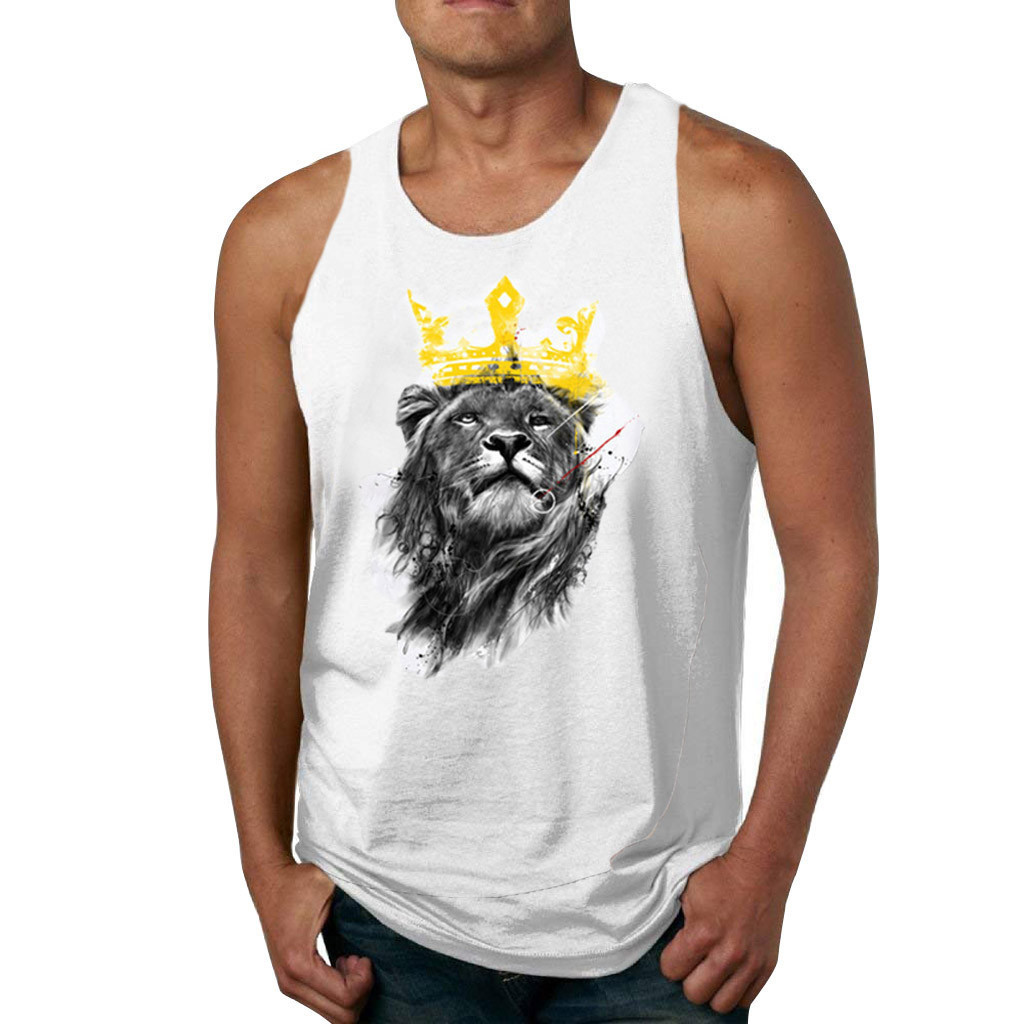 Men   Tank     Tops   Crown Bodybuilding   tank     top   gyms Fitness Men Vest Brand punisher Clothing Sleeveless Shirts Workout O-Neck   tops