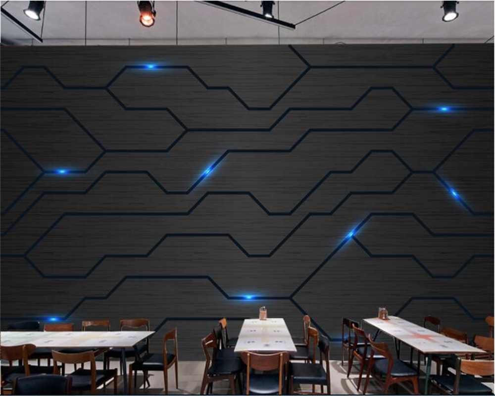 Beibehang 3d Modern Technology Sense Fashion Circuit Diagram Tooling Wall Background Papel De Parede Wallpaper Hudas Beauty