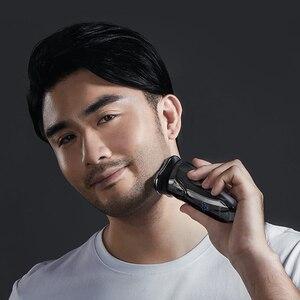 Image 5 - Xiaomi Soocas blanco máquina de afeitar eléctrica de afeitar hombres lavable recargable USB inalámbrico 3D Control inteligente afeitado barba de la máquina