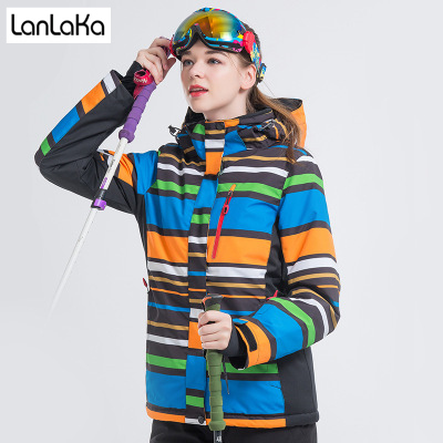 LANLAKA NEW Brand Ski Jacket Women Snowboarding jackets Warm Snow Coat Breathable 5 Color Optional Colorful Ski Jackets Female цена