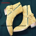 2017 moda primavera Botas chelsea Homens Eqüestre Inglês Estilo Martin Sapatos Masculinos Sapatos de couro zip tornozelo Botas Sapatos