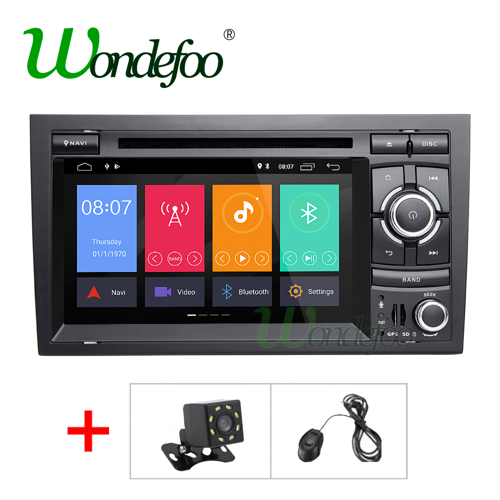 DSP IPS 2 Din Android 8.0/8.1 Car radio dvd Multimedia Player GPS Audio For Audi/A4/S4 2002-2008 autoradio stereo fm wifi obd2
