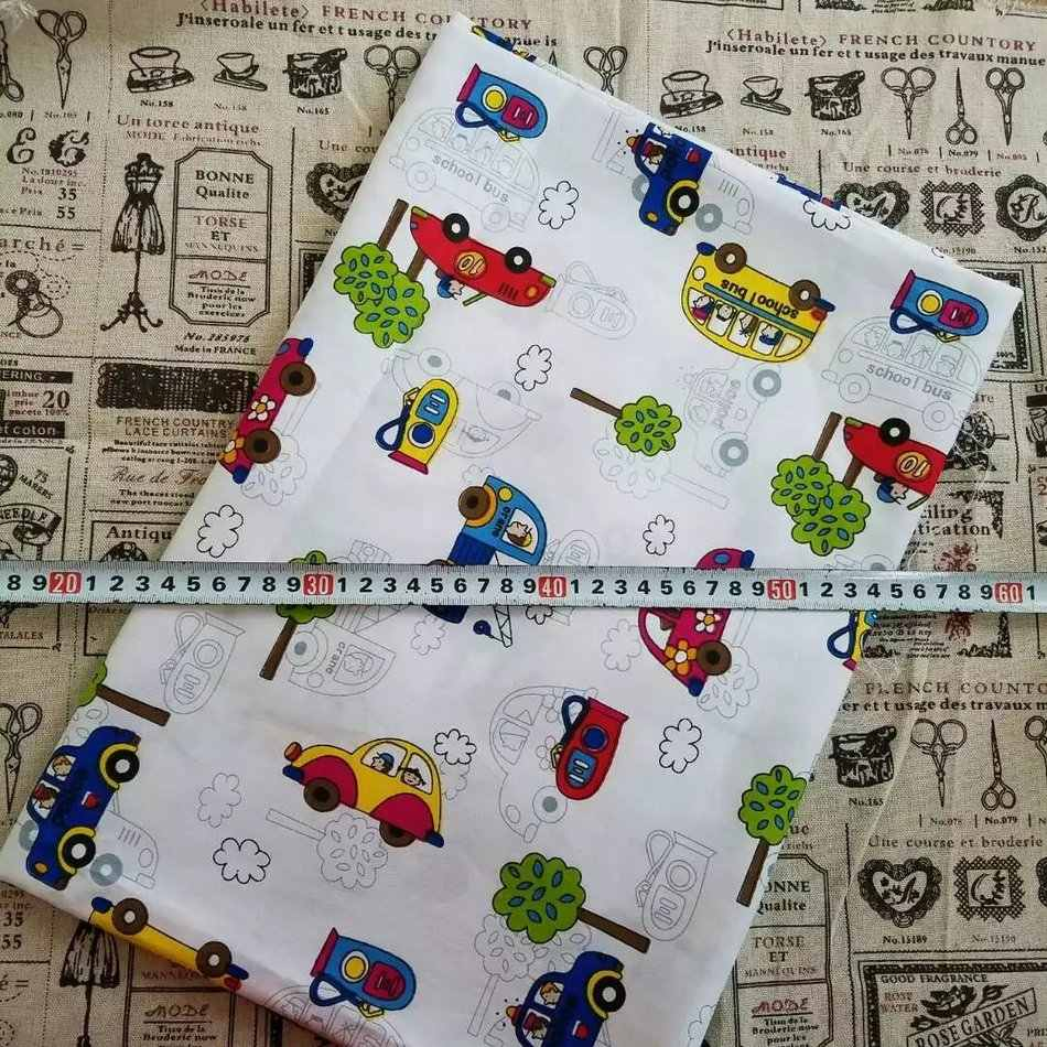 50cmx160cm/piece cotton fabric sewing telas patchwor floral cartoon pattern cloth for baby bedding clothing tecido quilting