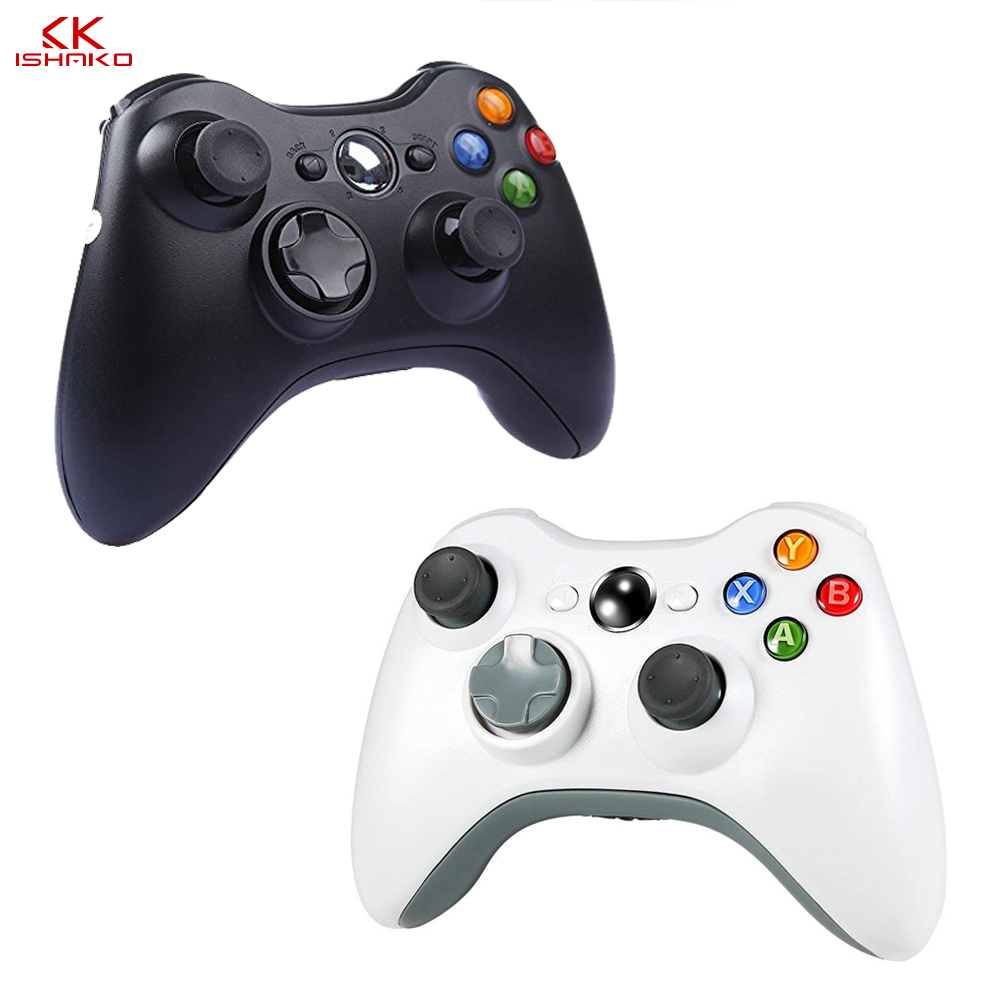 K ISHAKO 2.4GHz Wireless Gamepad Joypad Controller Game Joystick Pad for Xbox 360 Game Black/white color image