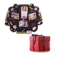 Взрыв поле День Святого Валентина подарок DIY сюрприз Box Scrapbook фотоальбом с комплектом аксессуаров для подарок на Новый год