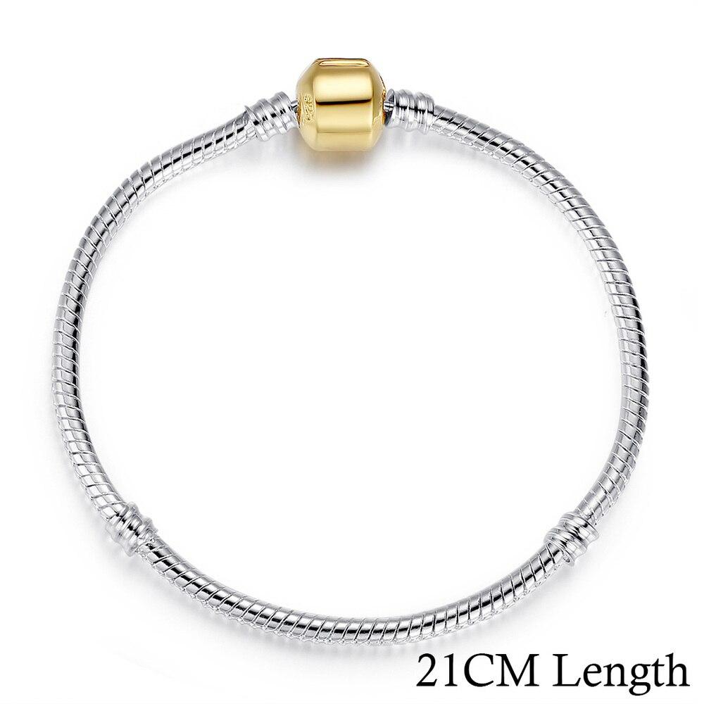 5 стиль 925 серебряных любовь цепи змейки и браслет 16 см- 21 см браслеты омар PA1104 - Окраска металла: 21CM PA9001