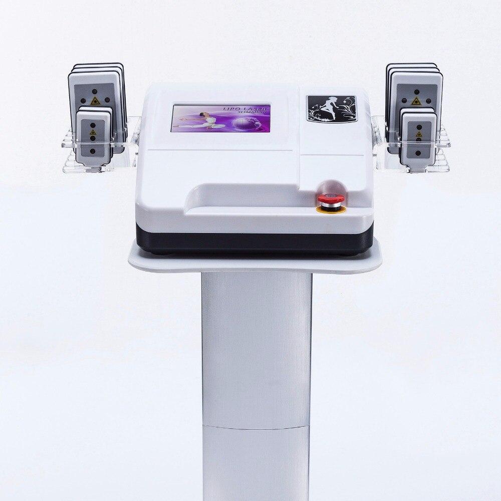 RF Lase perdre du poids Machine de beauté Diode Laser minceur Machine Lipo 6 grands tampons 4 petits tampons