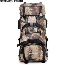 70L Men Outdoor Military Tactical Backpack Large Capacity Women Camping Hiking Mountaineering Backpack Waterproof Travel Bag outdoor backpack waterproof large capacity mounting bag travelling bag 70l polyester honeycomb breathable pad