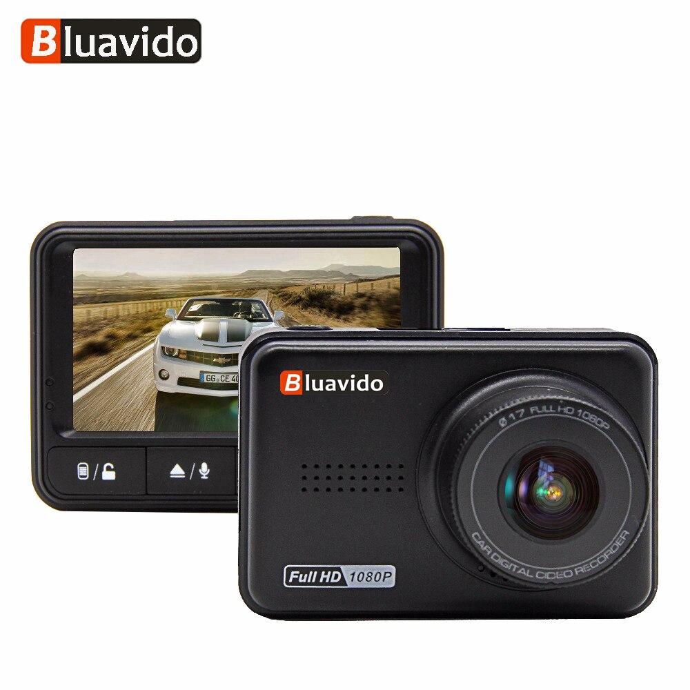 Bluavido Мини Автомобильный dvr 1080 P WDR ночное видение Full HD видео регистраторы Новатэк 96658 тире камера 170 широкий формат автомобиля видеокамера