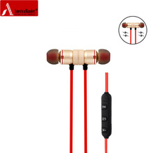 Americamande BT31 Магнитная Sports беспроводной Bluetooth 4.1 headphones стерео наушники гарнитура aptX с микрофоном называет Музыка наушники
