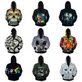 High-quality boy tide brand 3D digital creative personality printing Hip-Hop hooded baseball clothing Hooded sweater 15-20 years