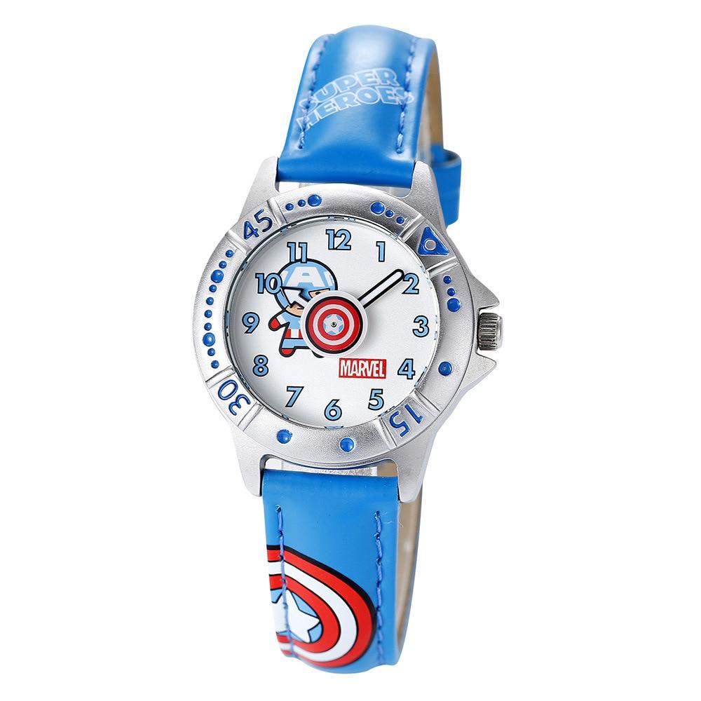 Permalink to Children's Watches Disney brand children boys watch quartz leather Cartoon Captain America child wristwatch waterproof