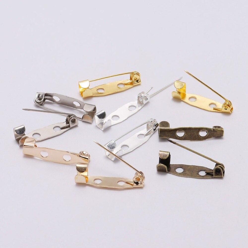 10pcs 16mm Blank Cabochon Base Hijab Pins Brooch Pins Safety Pins Settings