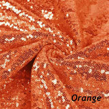 2Yard Embroidery Sequin Fabric Material Orange Sparkly Used to Make Clothes Shoes Bags Wedding Partie Event Decor -527