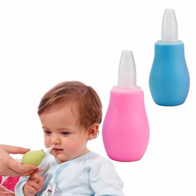 2018 Portable Baby Toddler Nasal Aspirator Nose Mucus Cleaner Snot Sucker Pump
