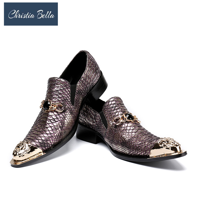 Christia Bella Fashion Italian Designer Formal Mens Dress Shoes Genuine Leather Gold Luxury Wedding Male Shoes Office Party Shoe 2015 italian luxury alligator fashion mens dress shoes genuine leather with buckle black flats for man wedding party office 979