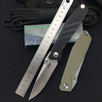 Sanremu 1158 Folding Knife 814 Blade G10 Handle Small Outdoor Camping Hunting Survival Tool Fruit Cutting EDC Pocket Knives