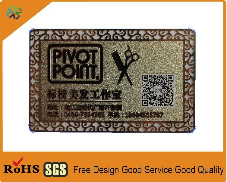 Us 128 89 2018 Benutzerdefinierte Goldene Metall Visitenkarte Metall Visitenkarte Vip Karte Mit Logo Worte Graviert Ausschneiden Und Qr Code