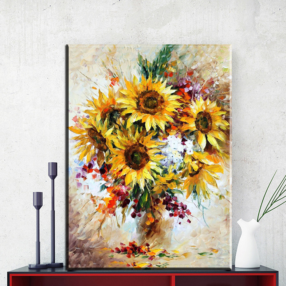 Claude Monet vase of sunflowers wall art Prints No frame wall ...