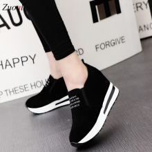fashion height increasing shoes woman casual platform shoes