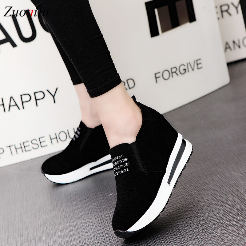 fashion height increasing shoes woman casual platform shoes breathable