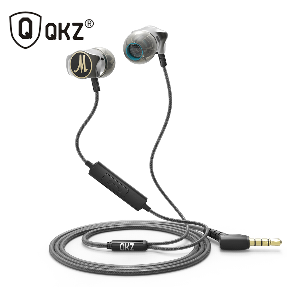 Earphone QKZ X10 Zinc Alloy In Ear Earphones HiFi Earphone fone de ouvido Headset auriculares audifonos Stereo BASS Metal DJ