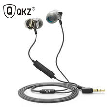 Earphone Qkz X10 Paduan Seng Di Telinga Earphone HI FI Earphone Fone De Ouvido Headset Auriculares Audifonos Stereo Bass Logam DJ(China)