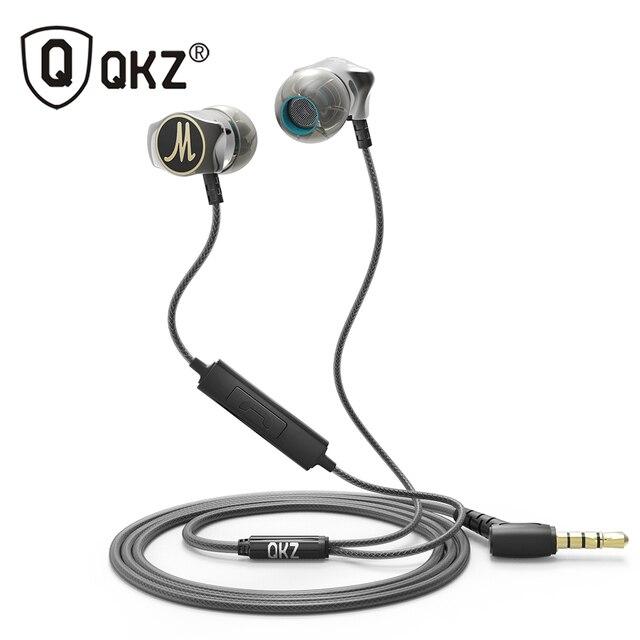 หูฟัง QKZ X10 สังกะสีอัลลอยด์ในหูหูฟัง HiFi หูฟัง fone de ouvido auriculares audifonos สเตอริโอ BASS Metal DJ