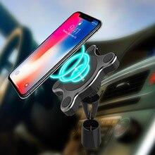 QI автомобильный держатель Магнитный Беспроводной Зарядное устройство для samsung S8 S9 плюс примечание 9 с подставкой вентиляционное отверстие автомобильный держатель телефона Зарядное устройство для iPhone Xs