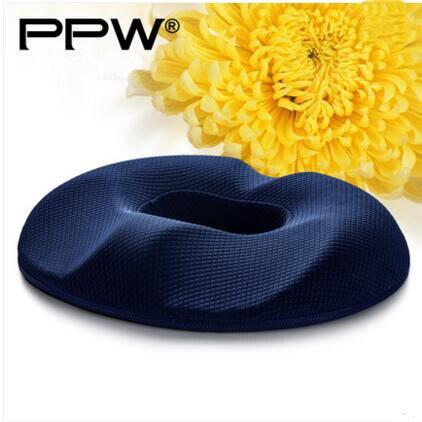 PPW coussin charbon de bambou P07E07 polyuréthane Visco élastique Anti-hémorroïde mousse Rond beignet coussin de siège