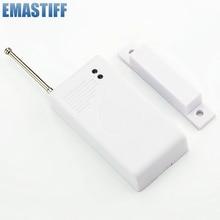 مستشعر وإنذارات 433 ميجاهرتز جهاز اتصال لاسلكي لنوافذ الباب مستشعر كاشف دخول مغناطيسي لنظام إنذار لاسلكي GSM لأمن المنزل